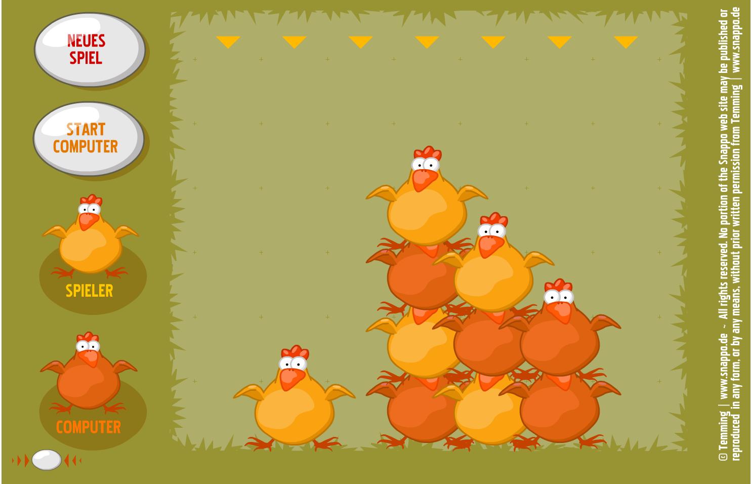 Huhn gewinnt